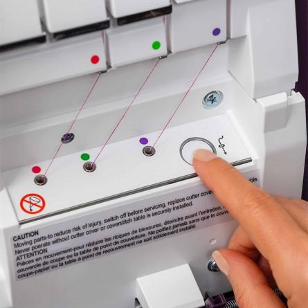 Pneumatyczny system nawlekania maszyny do szycia